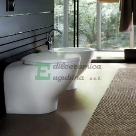 "Sanitari Pozzi Ginori ""Join"" Ceramica bianca vaso con sedile e bidet"