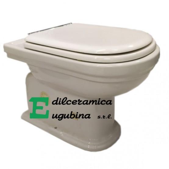 Calla Ideal Standard Vaso Water Wc A Terra Porcellana Bianco Sanitari Con Sedile Edilceramica Eugubina