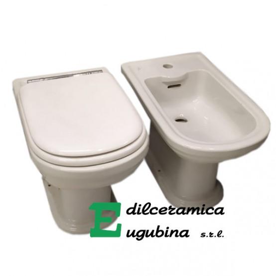Calla Ideal Standard Coppia Sanitari Vaso Wc Water Bidet A Terra Porcellana Sanitari Con Sedile Edilceramica Eugubina
